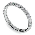 Scallop Diamond Eternity Ring in White Gold (1 ctw) | Thumbnail 01