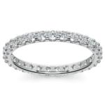 Scallop Diamond Eternity Ring in White Gold (1 ctw) | Thumbnail 02