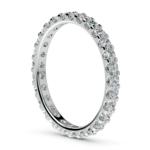 Scallop Diamond Eternity Ring in White Gold (1 ctw) | Thumbnail 04