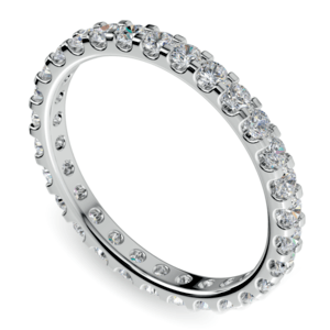 Scallop Diamond Eternity Ring in White Gold (1 ctw)
