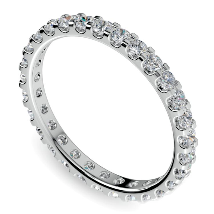 Scallop Diamond Eternity Ring in White Gold (1 ctw) | 01
