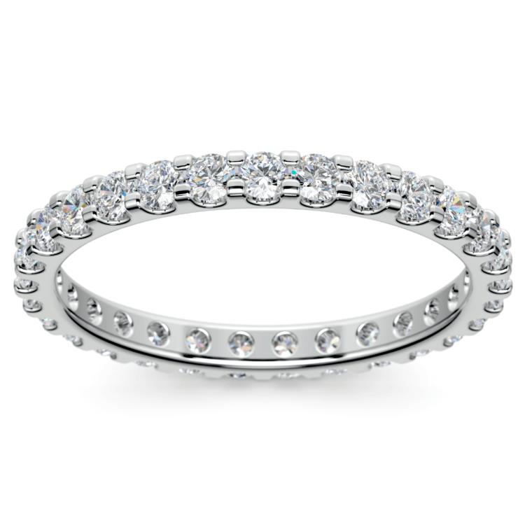 Scallop Diamond Eternity Ring in White Gold (1 ctw) | 02