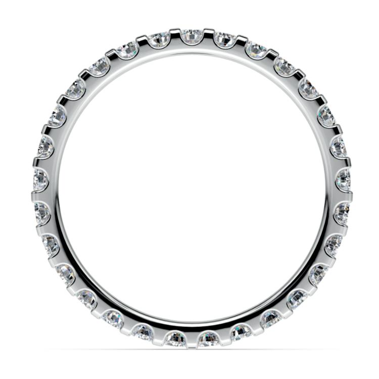 Scallop Diamond Eternity Ring in White Gold (1 ctw) | 03