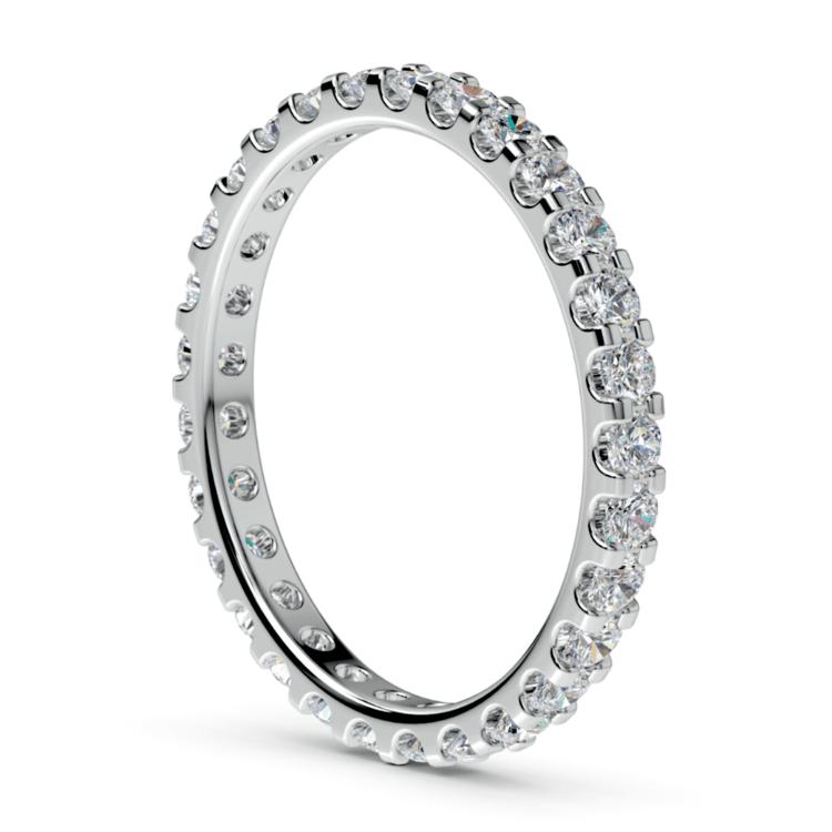 Scallop Diamond Eternity Ring in White Gold (1 ctw) | 04