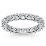 Scallop Diamond Eternity Ring in White Gold (2 ctw) | Thumbnail 02