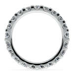Scallop Diamond Eternity Ring in White Gold (2 ctw) | Thumbnail 03