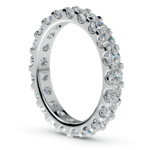 Scallop Diamond Eternity Ring in White Gold (2 ctw) | Thumbnail 04