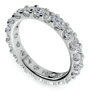 Scallop Diamond Eternity Ring in White Gold (2 ctw)