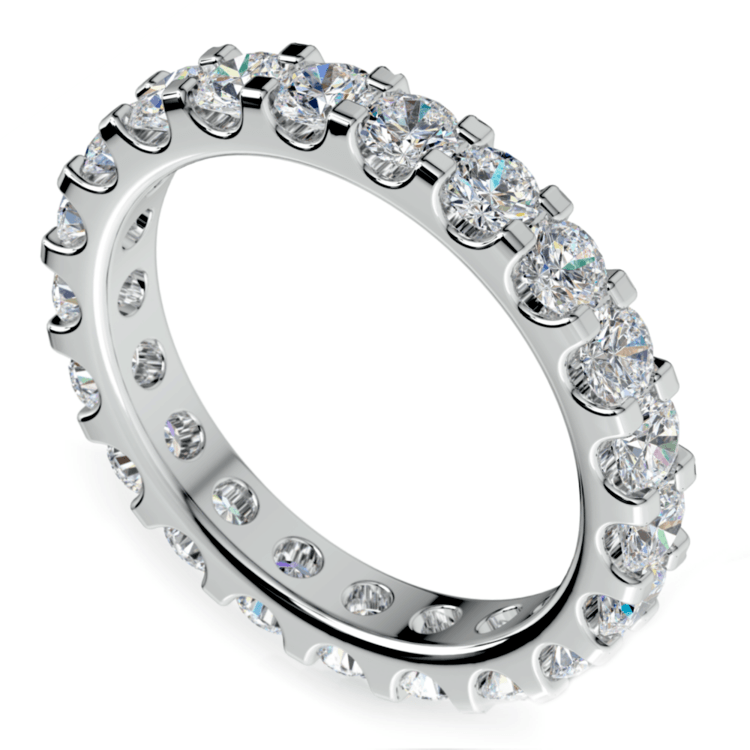 Scallop Diamond Eternity Ring in White Gold (2 ctw) | 01