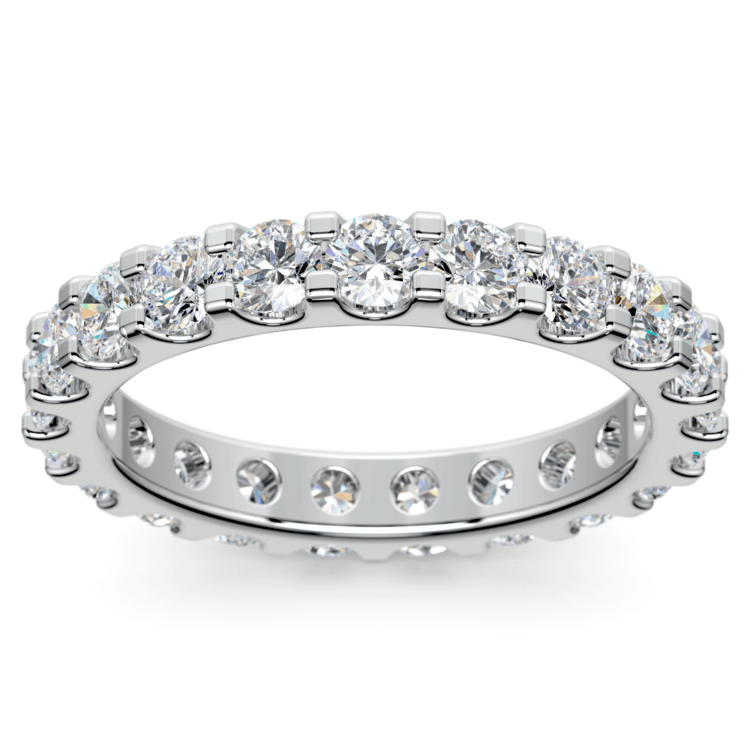 Scallop Diamond Eternity Ring in White Gold (2 ctw) | 02