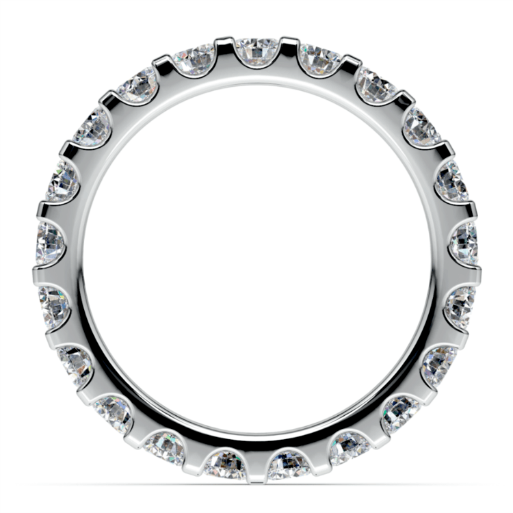 Scallop Diamond Eternity Ring in White Gold (2 ctw) | 03