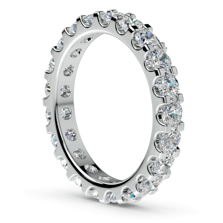 Scallop Diamond Eternity Ring in White Gold (2 ctw) | 04
