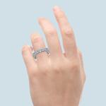 Four Carat Round Scallop Diamond Eternity Ring In White Gold   Thumbnail 05