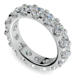Scallop Diamond Eternity Ring in White Gold (4 ctw) | Thumbnail 01