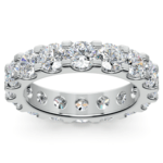Scallop Diamond Eternity Ring in White Gold (4 ctw) | Thumbnail 02