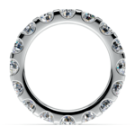 Scallop Diamond Eternity Ring in White Gold (4 ctw) | Thumbnail 03