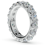 Scallop Diamond Eternity Ring in White Gold (4 ctw) | Thumbnail 04