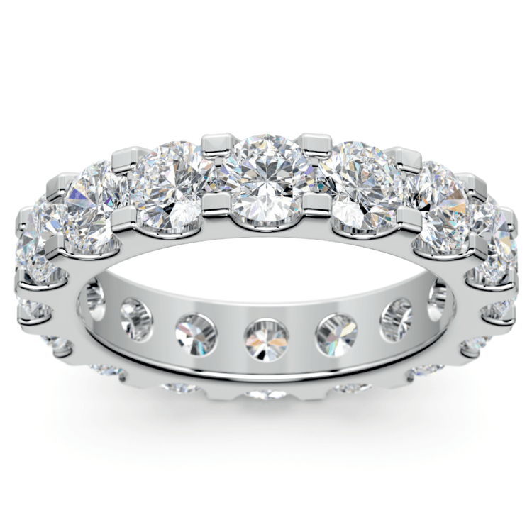 Scallop Diamond Eternity Ring in White Gold (4 ctw) | 02