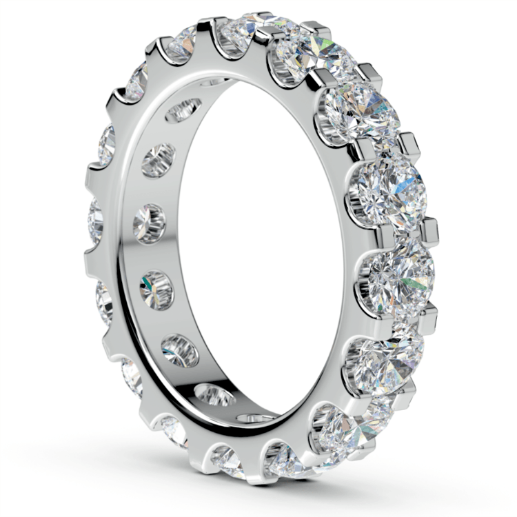 Scallop Diamond Eternity Ring in White Gold (4 ctw) | 04