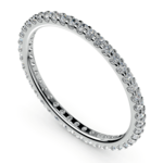 Scallop Diamond Eternity Ring in White Gold | Thumbnail 01