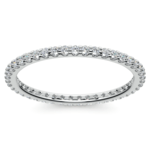 Scallop Diamond Eternity Ring in White Gold | Thumbnail 02