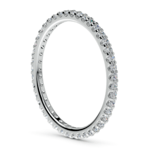 Scallop Diamond Eternity Ring in White Gold | Thumbnail 04