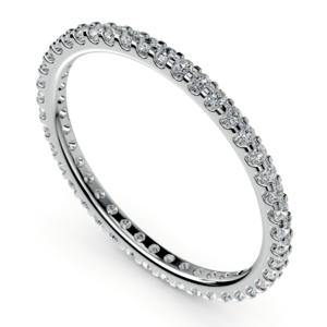 Scallop Diamond Eternity Ring in White Gold