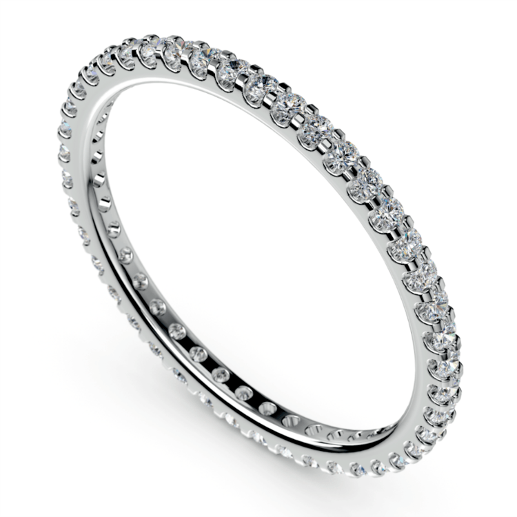 Scallop Diamond Eternity Ring in White Gold | 01