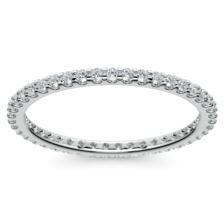 Scallop Diamond Eternity Ring in White Gold | 02