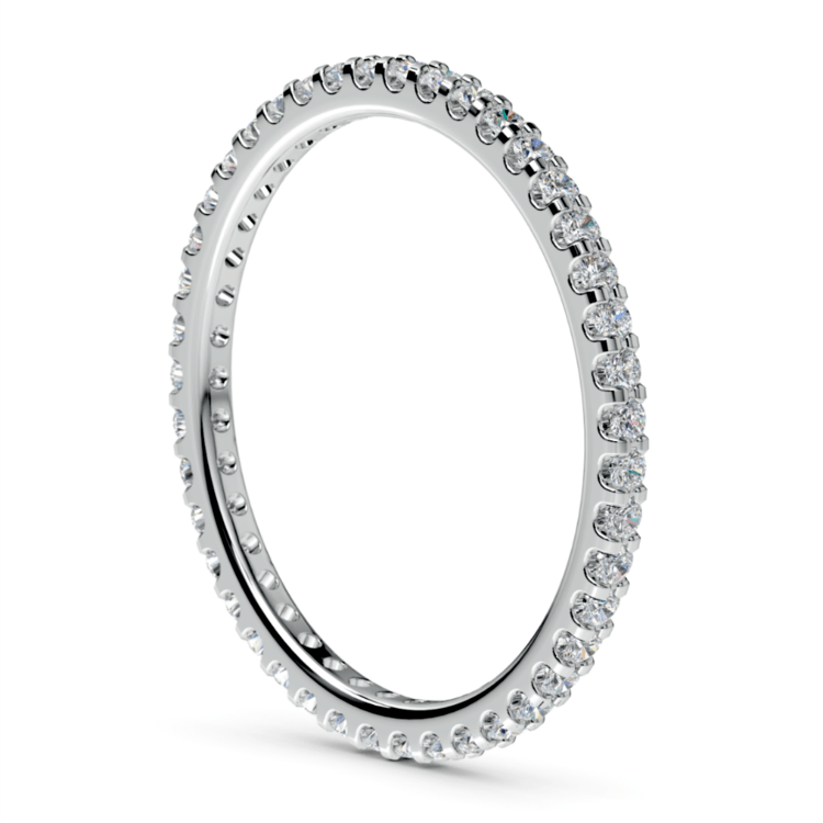 Scallop Diamond Eternity Ring in White Gold | 04