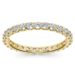 Scallop Diamond Eternity Ring in Yellow Gold (1 ctw) | Thumbnail 02