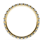 Scallop Diamond Eternity Ring in Yellow Gold (1 ctw) | Thumbnail 03