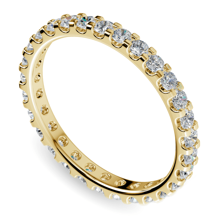 Scallop Diamond Eternity Ring in Yellow Gold (1 ctw) | 01
