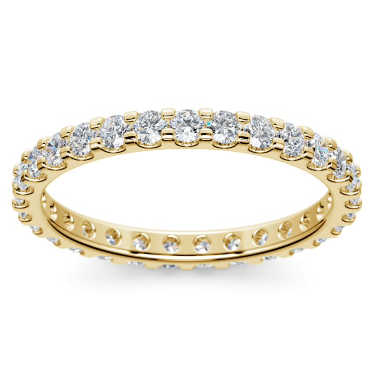 Scallop Diamond Eternity Ring in Yellow Gold (1 ctw) | 02