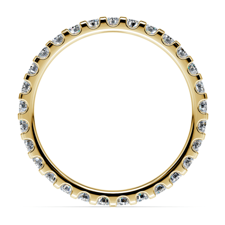 Scallop Diamond Eternity Ring in Yellow Gold (1 ctw) | 03