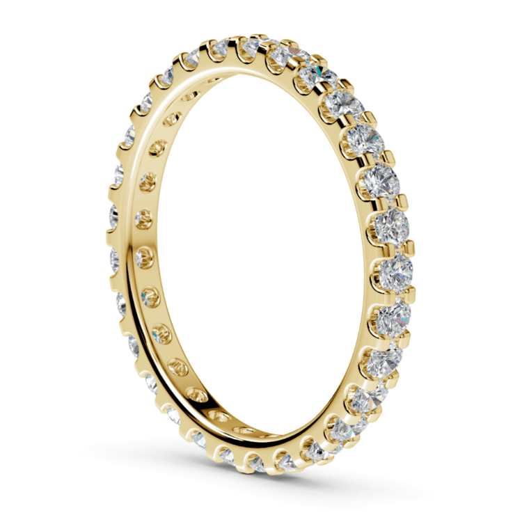 Scallop Diamond Eternity Ring in Yellow Gold (1 ctw) | 04