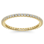 Scallop Diamond Eternity Ring in Yellow Gold | Thumbnail 02