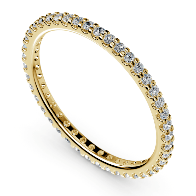 Scallop Diamond Eternity Ring in Yellow Gold | 01