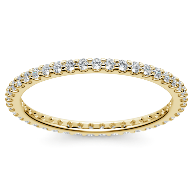 Scallop Diamond Eternity Ring in Yellow Gold | 02