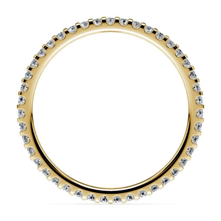 Scallop Diamond Eternity Ring in Yellow Gold | 03