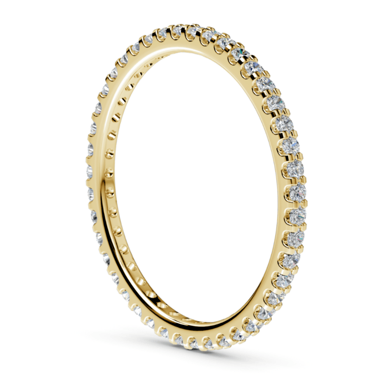 Scallop Diamond Eternity Ring in Yellow Gold | 04