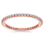 Scallop Diamond Eternity Ring in Rose Gold | Thumbnail 02