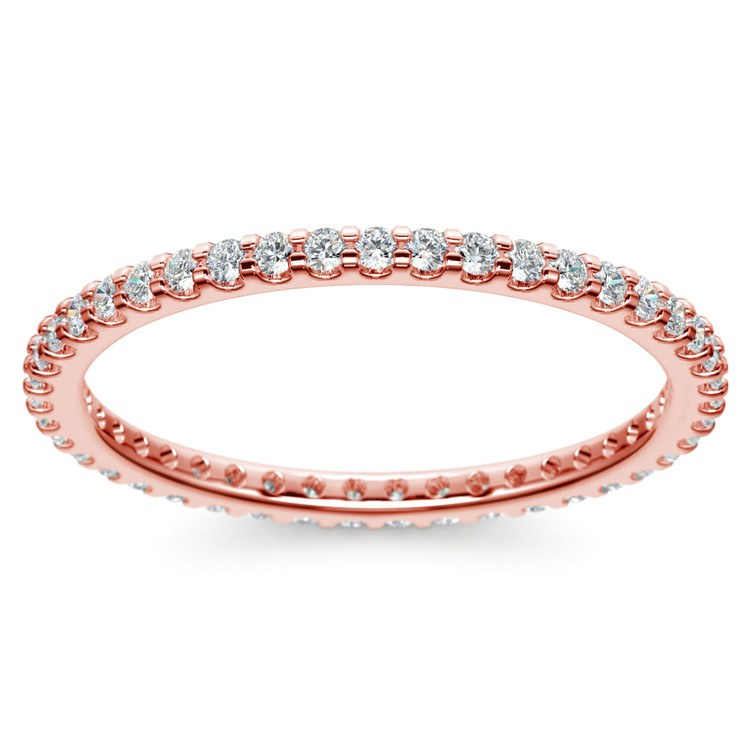Scallop Diamond Eternity Ring in Rose Gold | 02
