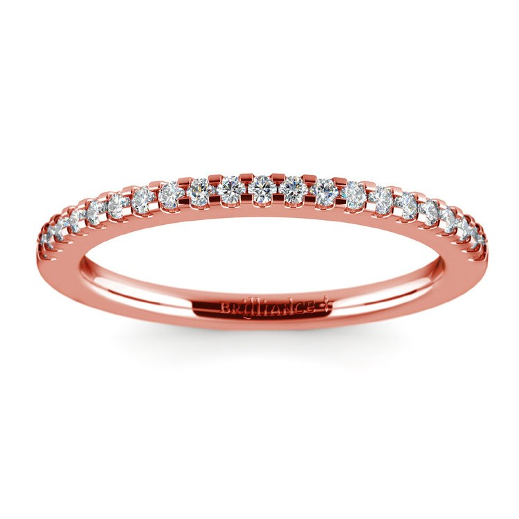 Scallop Diamond Wedding Ring in Rose Gold (1/4 ctw) | 02