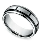 Sectional Men's Wedding Ring in Cobalt (7mm) | Thumbnail 01