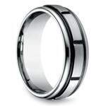 Sectional Men's Wedding Ring in Cobalt (7mm) | Thumbnail 02