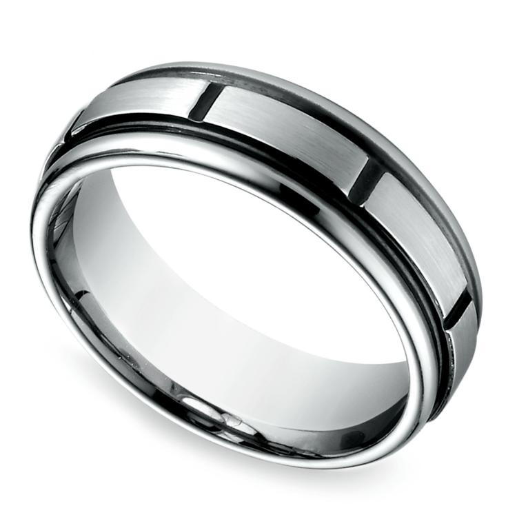 Sectional Men's Wedding Ring in Cobalt (7mm) | 01