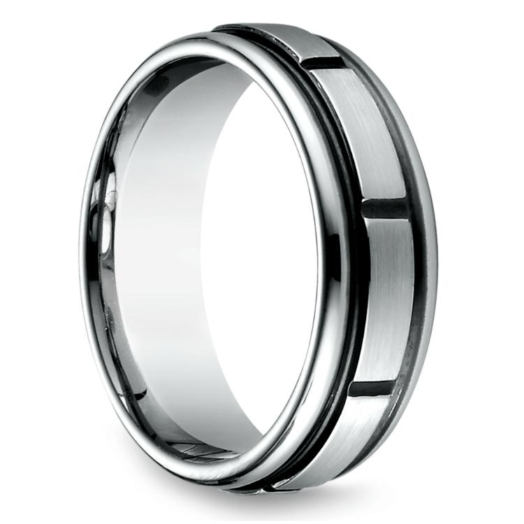Sectional Men's Wedding Ring in Cobalt (7mm) | 02