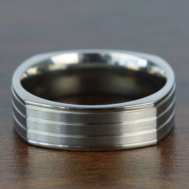 Sectional Men's Wedding Ring in Titanium | 05