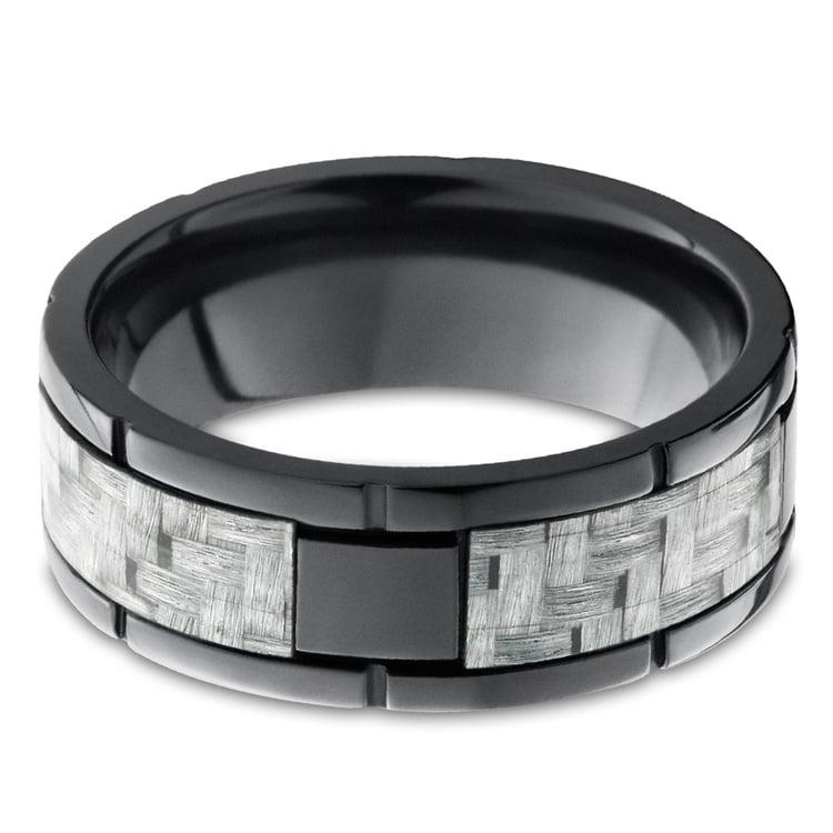 User 1 - Segmented Zirconium & Meteorite Mens Band | 03